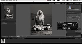Wacom On Screen Controls en Lightroom