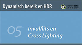 Invulflits en cross lighting