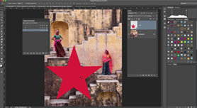 Elementen verplaatsen tussen Photoshop documenten